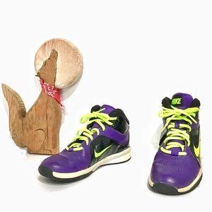 Nike Swoosh Flex Running Shoes Purple Black Lime 5